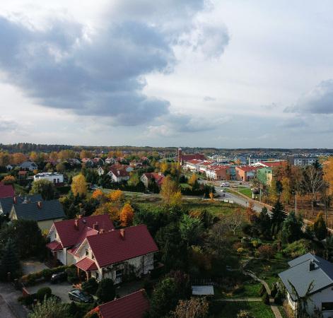 Widok powitalby Osiedle Książenice